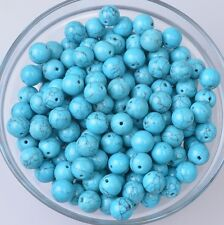 Fashion Jewelry Size 6-14mm Blue DIY Bracelet Round Spacer Loose Beads