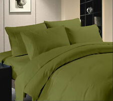 1200 TC Hotel Moss Solid Sets 100 % Egyptian Cotton All Size By Royal Bedding's