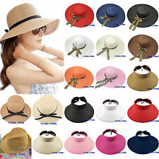 Women Girl Floppy Wide Brim Straw Trilby Cap Bohemia Panama Summer Beach Sun Hat