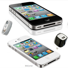 Apple iPhone 4 VERIZON cdma cell phone white and black smartphones