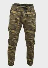 Mens Camo Cargo Trousers Camouflage Combat Military Pants Army Marine Paint Ball