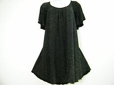 STUNNING BLACK AND SILVER PLUS SIZE TOP SIZE BNWT 16,18,20, 22/24,26/28, 30/32
