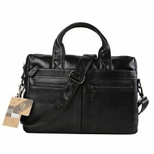 "Koolertron Vintage Genuine Leather Shoulder Messenger Bag 14"" Laptop Briefcase"