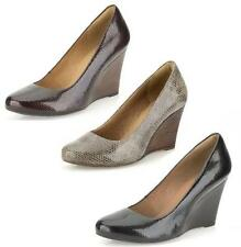 ELSA PURITY - LADIES CLARKS FASHIONABLE HIGH HEEL SLIP ON SMART LEATHER SHOES