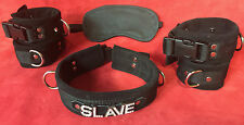 6 pc leather restraint set wrist cuffs any word on collar black or choose color