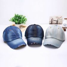 Unisex Men Women Sport Casual Denim Baseball Retro Cap Sun Adjustable Plain Hats