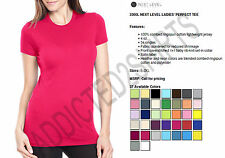 Next Level The Perfect Tee Basic T-Shirt Women's 3300L New S-2XL