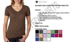 6044 Next Level Next Level Poly/Cotton V Girls T-Shirt NEW S-XL