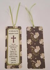 """16 Personalized Memorial Bookmarks - 2.3"""" x 6"""" with Ribbons - Funeral Bookmarks"""