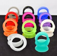 11 PAIRS-EAR PLUGS-EAR GAUGES-FLESH TUNNELS-HOLLOW DOUBLE FLARED-EAR STRETCHING