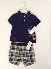 NEW WITH TAG RALPH LAUREN POLO BABY BOY TWO PIECE SET SZ 6 MONTHS