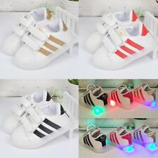 Boys Girls LED Light up Casual Shoes Luminous Kids Toddler Flat Sneakers Sports