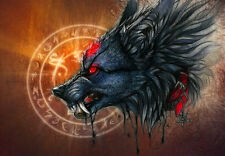 ART Modern Home Decor HD Prints oil painting on canvas wall art Fantasy wolf w31