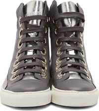 RAF SIMONS HIGH TOP FASHION SNEAKERS TRAINERS A$AP ROCKY SILVER STERLING RUBY