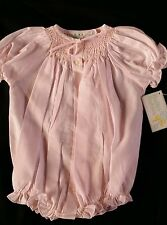 Bailey Babies Boys Smocked  Bubble White Pink 3M 6M 9M FREE SHIP
