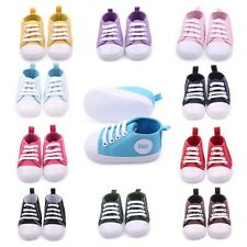0-12M Toddler Baby Boyd Girld Canvas  Soft Sole Walking Shoes SneakersCrib Shoes