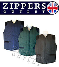 GILLET-WAISTCOAT-BODYWARMER QUILTED PADDED Country Style M*L*XL*XXL*3XL*4XL*5XL