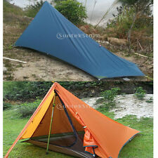 Lightweight Backpacking 2-layer Waterproof Tent Shelter Tarp Camping Bivy & Sack