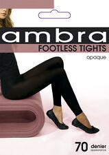 Ambra Footless Tights Opaque 70 denier, Black_selling below cost!!
