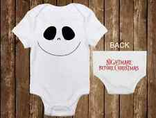 Adorable Halloween Onesie - Jack Skellington Inspired Custom unisex baby clothes