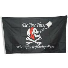 3x5 FT Skull Crossbones Jolly Roger Pirate Flags Grommets Halloween Deco Banner