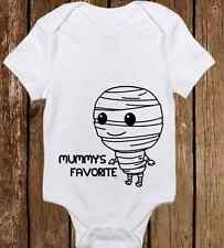 Adorable Halloween Mummy's Favorite Costume Onesie Funny unisex baby clothes