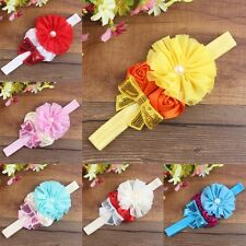 Toddler Kids Girls Baby Headband Toddler Bow Flower Hair Band Accessory Headwear