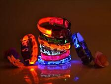 Light Up for Nylon Flashing LED Light Pet Dog Safety Collar Adjustable New