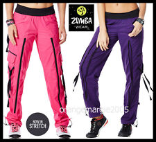 """Zumba FITNESS ZUMBA'S """"Top of the Line"""" CARGO PANTS~w Perfect amt.of Stretch~S M"""