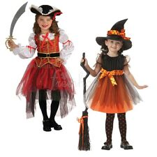 Kids Girl Halloween Witch Pirate Kitty Cosplay Costumes Party Fancy Dress Outfit