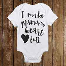 Adorable Baby Girl Onesie I Make My Mama's Heart Full  0, 3, 6, 9, 12, 18 Months