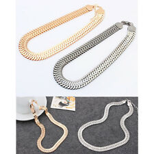Unusual Punk Chunky Celebrity Statement Collar Bib Choker Snake Chain Necklace