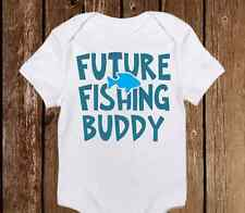 Daddy's Future Fishing Buddy Baby Boy Onesies - Infant to 18 Months Country Boy