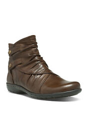 COBB HILL PANDORA WOMENS BROWN LEATHER CASUAL COMFORT ANKLE BOOTS SHOES SZ NEW