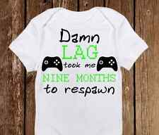 Geeky Baby Onesie Respawn took 9m Baby Girl or Boy - Gamer - Nerd Baby Awesome