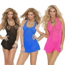 New Sexy Lingerie Fashion Lace Dress Underwear Chemise Sleepwear Dress Babydoll