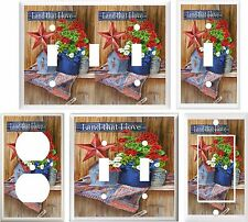PATRIOTIC BARN STAR COUNTRY DECOR LIGHT SWITCH COVER PLATE OR OUTLET V897