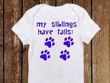 Adorable Baby Boy Onesie - My Sibling has Paws - Puppy/Dog/Cat - Cute ALL COLORS