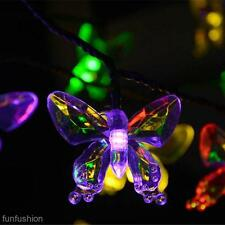 Solar LED Fairy Light String Outdoor Lamp Lantern Yard Wedding Xmas Party Decor