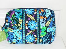 VERA BRADLEY MIDNIGHT BLUES LARGE COSMETIC NEW WITH TAGS  FREE SHIPPING