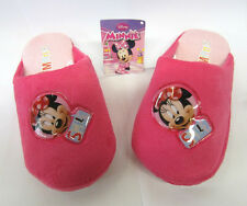 KIDS INDOORS SHOES FUCHSIA MINNIE MOUSE ANIMATED UPPER SLIPPERS - WD8147