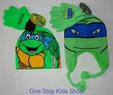 TEENAGE MUTANT NINJA TURTLES Boys Winter Set HAT & GLOVES Cap Mittens TMNT