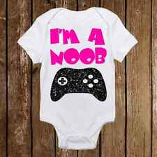 Geeky Baby Onesie I'm a Noob- Baby Girl or Boy - Gamer - Nerd Baby Awesome