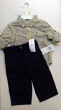 NEW WITH TAG RALPH LAUREN POLO BABY BOY TWO PIECE SET SZ 12 MONTHS