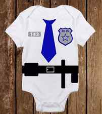 Adorable Halloween Costume Onesie Police Officer Cop Funny unisex baby clothes