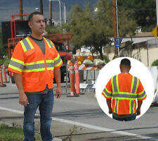 NEW HI VIS ANSI/ISEA Class 3 Safety Reflective Contrast Vest w/ 3M Reflective