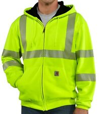 Carhartt High Visibility Zip Front Thermal Lined Hooded Sweatshirt 100504