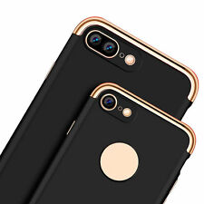 3 In 1 Armor Electroplate Slim Hard Back Case Cover for iPhone 7 / 7 Plus S003