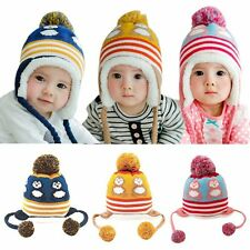 6-36M Winter Baby Earflap Toddler Girl Boys Kid Animal Cap Soft Warm Crochet Hat