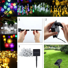 String Lights LEDs Water Drop Solar Waterproof Outdoor Party Garden Xmas Decor